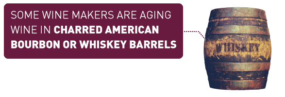 Some Wine Makers Are Aging Wine in Charred American Bourbon or Whiskey Barrels