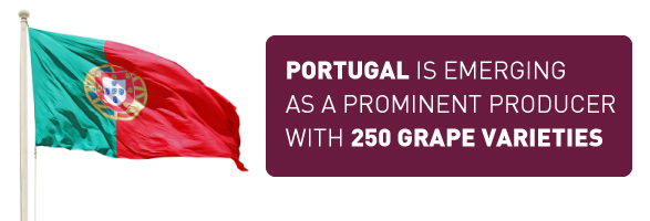 Portugal is Emerging as a Prominent Producer with 250 Grape Varieties