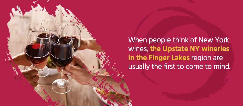 When people think of New York wines, the Upstate NY wineries in the Finger Lakes region are usually the first to come to mind.