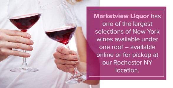 Marketview Liquor has one of the largest selections of NY wines under one roof, available online or for pickup at our Rochester NY Location.