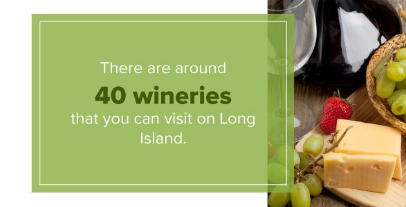 There are around 40 wineries that you can visit on Long Island
