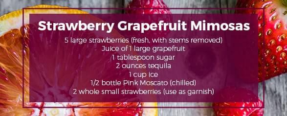 Strawberry Grapefruit Mimosas Moscato Recipe