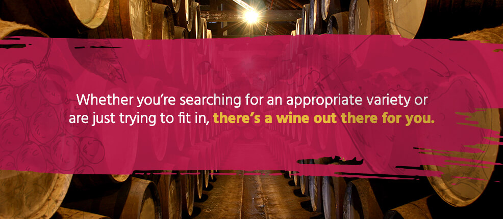 Whether you're searching for an appropriate variety or are just trying to fit in, there's a wine out there for you.