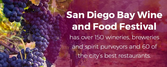 San Diego Bay Wine and Food Festival has over 150 wineries, breweries and spirit purveyors and 60 of the city's best restaurants.
