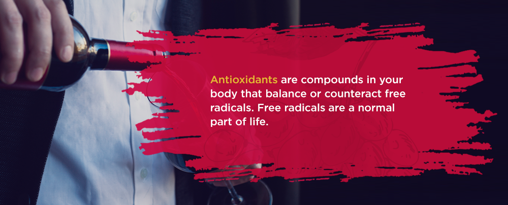 Antioxidants are compounds in your body that balance or counteract free radicals. Free radicals are a normal part of life.