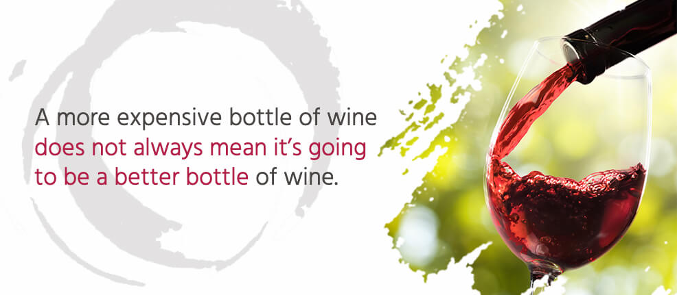 A more expensive bottle of wine does not always mean it's going to be a better bottle of wine