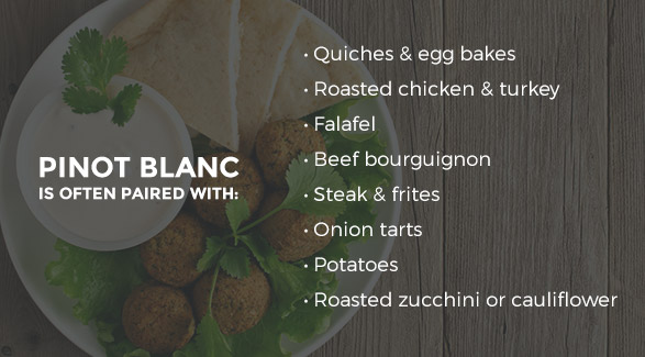 Foods Pinot Blanc is often paired with