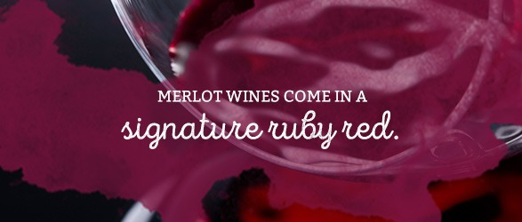 Merlot wines come in a signature ruby red.