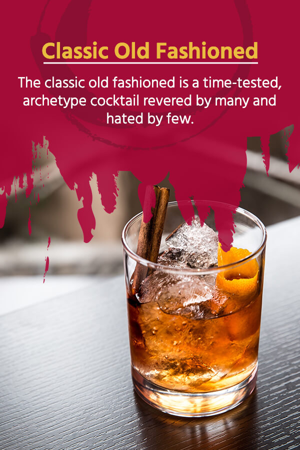 describes a classic old fashioned cocktail