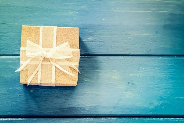 Gói quà cảm ơn trên bàn