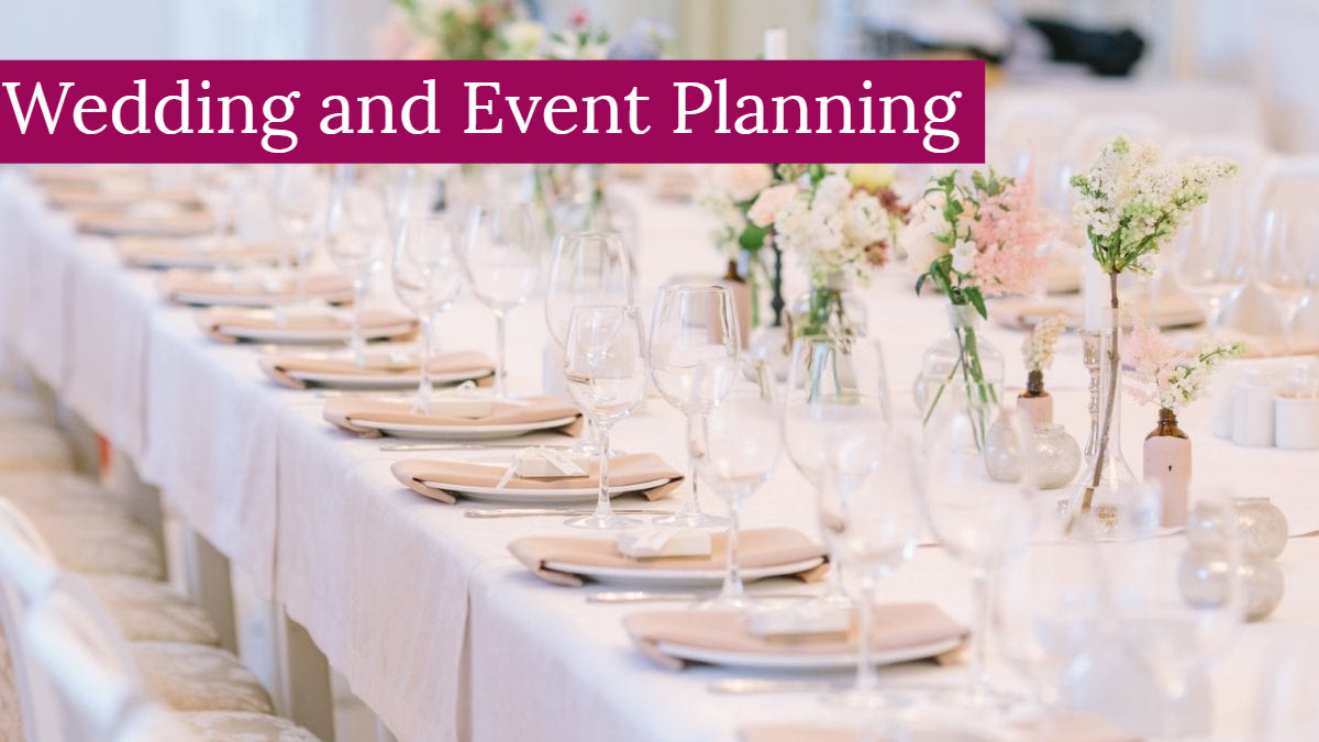 Wedding and Event Planning Header Picture