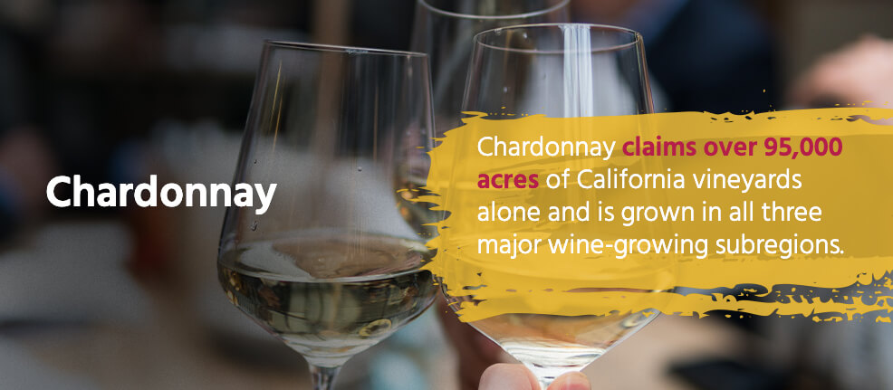 Chardonnay claims over 95,000 acres of California vineyards