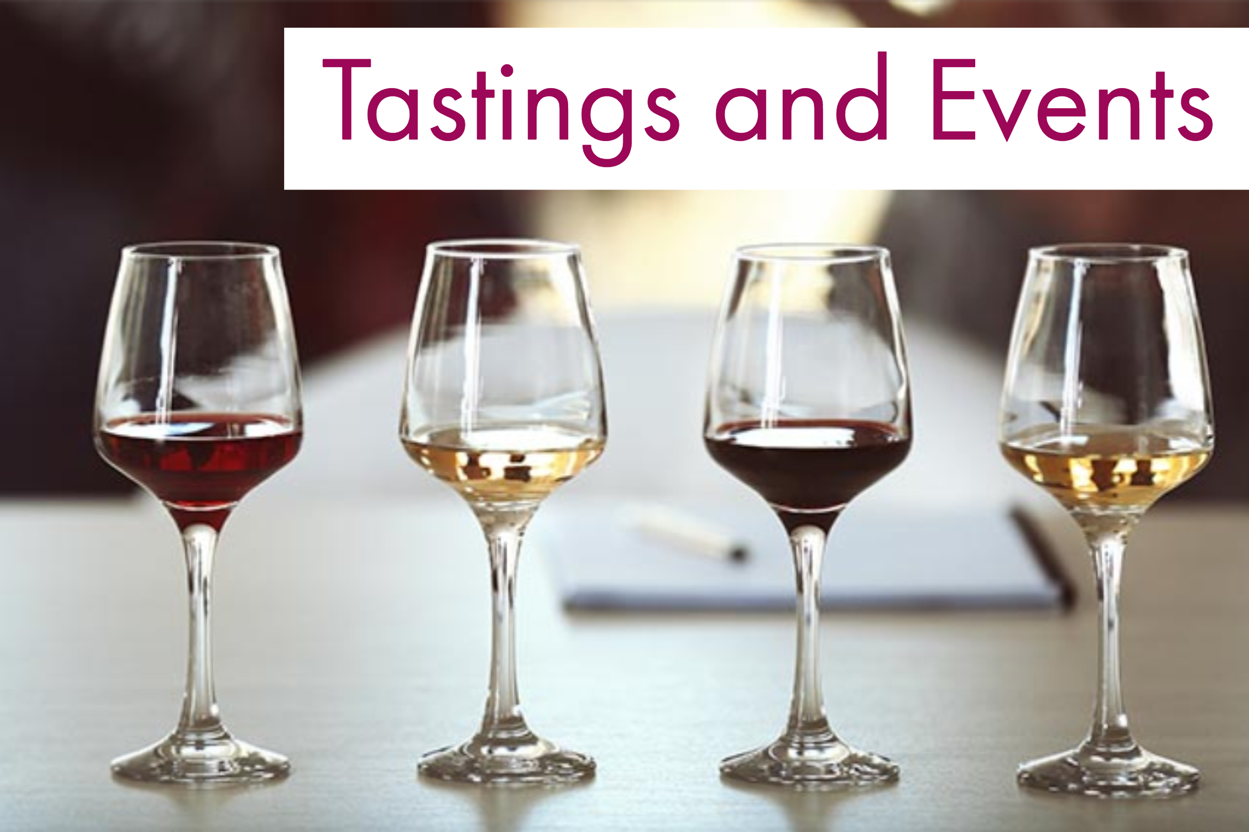 Tastings and events header pic