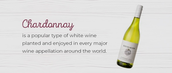 Chardonnay is a popular type of white wine planted and enjoyed in every major wine appellation around the world.