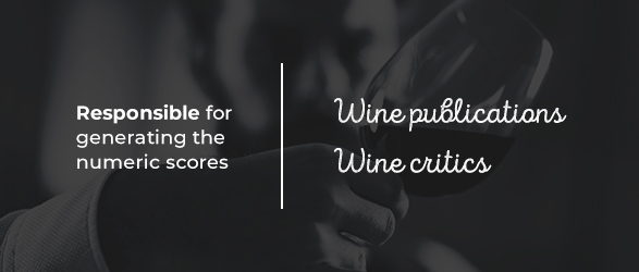 There are several major players in the wine industry responsible for generating the numeric scores you see when shopping for wine: Wine publications and wine critics.