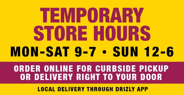 Marketview Liquor Updated Temporary Hours 3-23-20