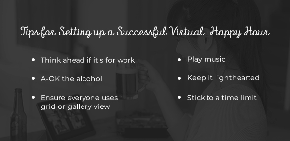 Tips for Setting up a Successful Virtual Happy Hour