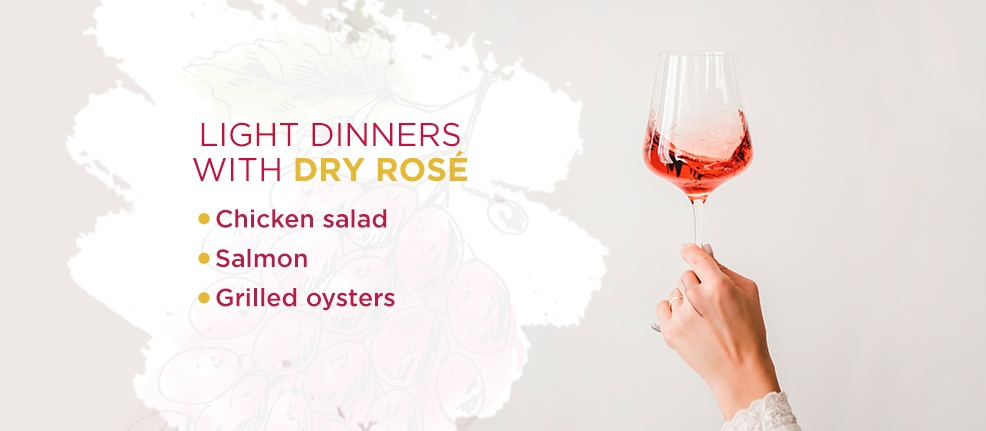 Light Dinners With Dry Rosé
