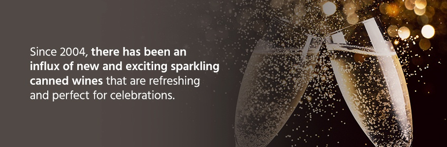 Since then, there has been an influx of new and exciting sparkling canned wines that are refreshing and perfect for celebrations.
